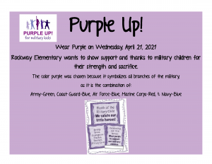 WEAR PURPLE to Support Military Families
